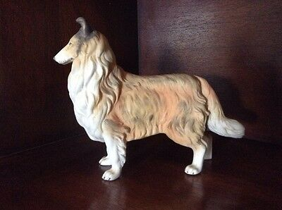 "Angeline Original HAND PAINTED Sheltie Dog Figurine 8"" Long"