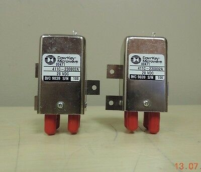 Lot x2 Dow-Key Microwave 00471, 411C-20802A Switches - Clean/Used/As-Is