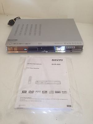 Sanyo DVR-500 DVD Recorder Player With Manuals No Remote