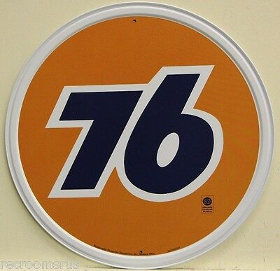 "UNION 76  motor oil and gasoline 12"" metal sign union 76 logo gas auto  793"