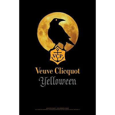 "Veuve Cliquot ""Yelloween"" poster 24 by 36. new"