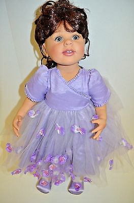 Artista Charisma Doll Spring Purple Flowers Easter Dress 2006 Numbered 141/350