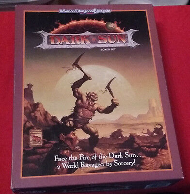 Dungeons and Dragons 2nd Ed Dark Sun Boxed Set - Incomplete (see condition)
