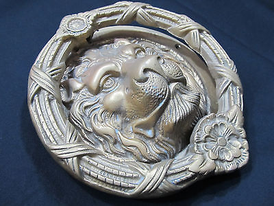 LARGE Solid Brass Lion's Head Door Knocker