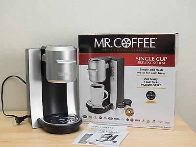 Mr Coffee BVMC-KG2 Keurig Compatible Single Cup Coffee Maker Silver