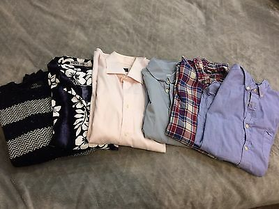 Bundle Of Men's Large Shirts And Sweater. Bargain