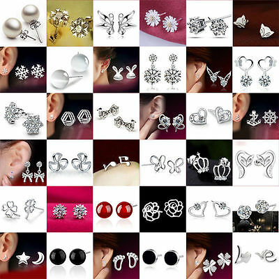 Fashion Women Christmas Jewelry Crown Crystal Rhinestone Ear Stud Xmas Earrings
