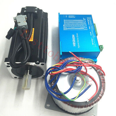 DSP 12NM Closed Loop Stepper Motor Nema34 Driver + Transformer Engraving Machine