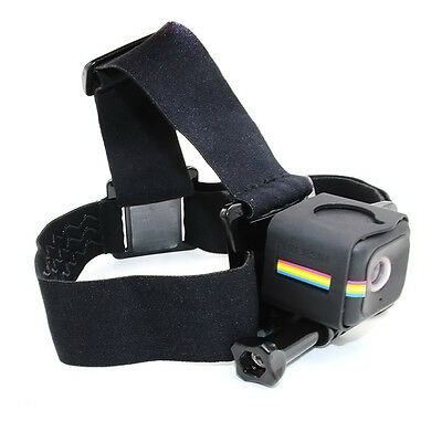 TELESIN Elastic Adjustable Head Strap Mount with Frame For Polaroid Cube /Cube+