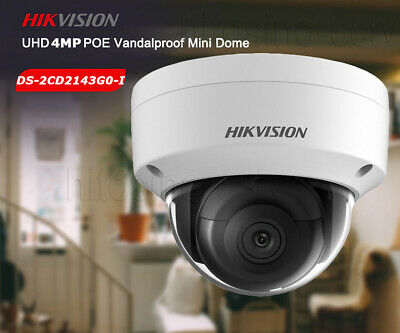 Hikvision Hd 4Mp Poe Ds-2Cd2143G0-I Ir Dome Home Outdoor Security Poe Ip Camera