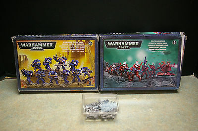 Lot Of 2008/2010 'warhammer 40K Space Marine Tactical/eldar Guardian' Boxed Sets