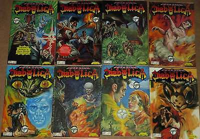 6 Mexican Pulp Horror Comics Libro Rojo Vampires Demons Possesion Witches F-VF