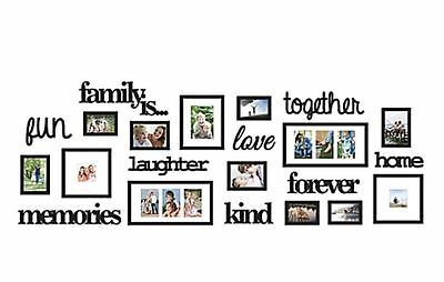 22 Piece Family Tree Wall Photo Frame Set Picture Collage Display