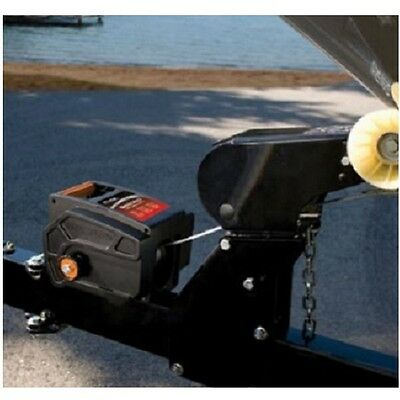 Electric Winch 6000 lb Rolling Portable Boat Remote Hand Crank Pulling Marine