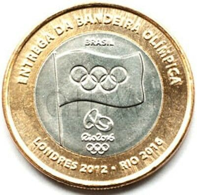 Brazil 1 real 2012 Olympic Games 2016 in Rio Flag UNC (# 1201)