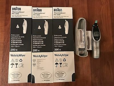 Welch Allyn Braun Thermoscan Pro 4000 Ear Thermometer 640 New Probes Priority!
