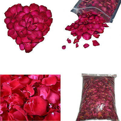 NEW 250g Natural Dried Red Rose Petals Buds 100% Organic Bath Soap Spa Skin Care