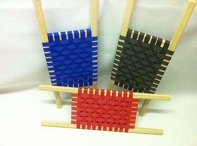 Pair of  coloured ash canoe seats complete with fixings