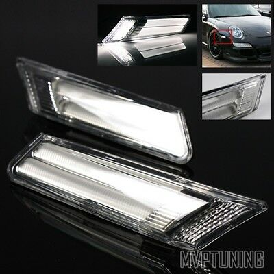 For 05-12 Porsche Cayman/Boxster/911/987/997 Euro Clear LED Side Marker Lights