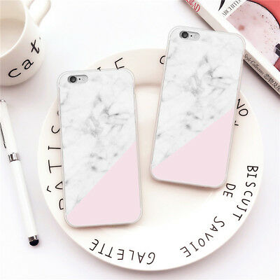 Ultra Slim Marble Soft TPU Silicone Back Case Cover For iPhone 8 7 Plus Samsung