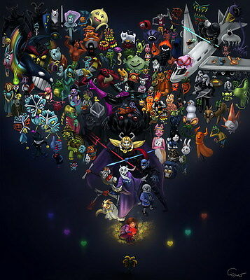 "YX01817 Undertale - Role-Playing Video Game 14""x15"" Poster"