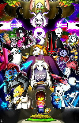 "YX01822 Undertale - Role-Playing Video Game 14""x21"" Poster"