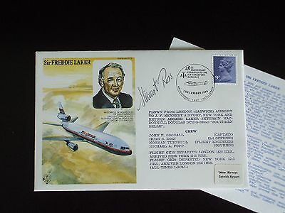 SIR FREDDIE LAKER - 40th Anniversary Air Transport Auxiliary (First Day Cover)