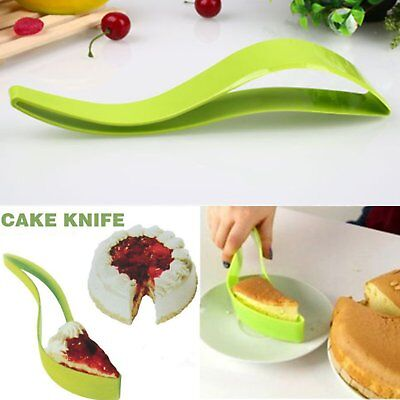 Plastic Bread Pie Cake Knife Slicer Sheet Server Cutter Kitchen Baking Gadget LW