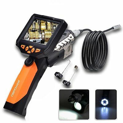 """3.5"""" LCD Inspection Camera Borescope Scope Endoscope Zoom Rotate 3M 3.8mm Cable"""