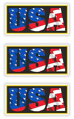 3x Stickers USA American Patriot Decal United States Flag Letters for Bumper Car