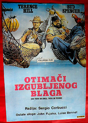 Who Finds A Friend Finds A Treasure Terence Hill Bud Spencer Exyu Movie Poster