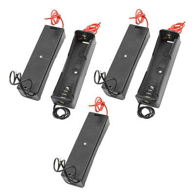 5x Plastic Battery Holder Storage Box Case for 18650 Rechargeable Battery W Wire