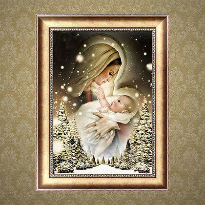 5D DIY Diamond Embroidery Painting Woman and Baby Cross Stitch Home Decor Craft