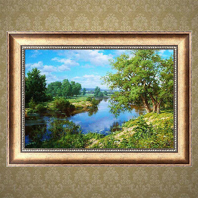 DIY 5D Diamond River Painting Embroidery Cross Stitch Crafts Home Wall Decor