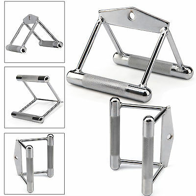 Multi Gym Attachment V Handle Double Row Close Grip Pull Bar Seated Bodybuilding