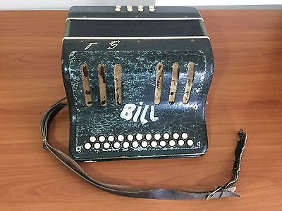 Scandalli Button Accordion. Vintage Italian Craftsmanship - early 20th Century