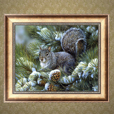 Squirrel DIY 5D Diamond Embroidery Painting Cross Stitch Home Wall Decor