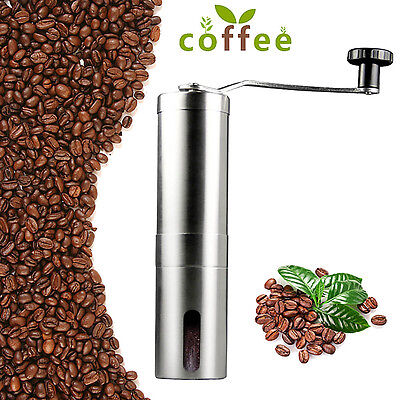 Hot Stainless Mill Steel Manual Coffee Bean Grinder Kitchen Hand Grinding Tool