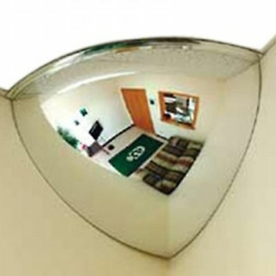 45cm Wall Quarter Mirror Dome Panoramic Convex Shop Safe Ceiling Corner 360 View
