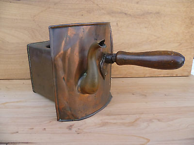 Antique Old Rare Copper Pot Heater Kettle Drawer, (A14)