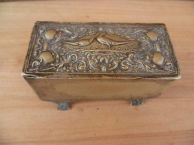 Old English Epns, Silver Plate Trinket Box (A35)