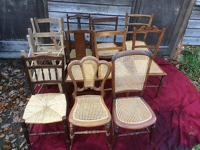 Job lot of 13 Chairs, mixed woods/seats