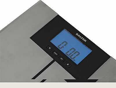Salter Stainless Steel Body Analyser Scales with Athlete Mode - Silver :Argos