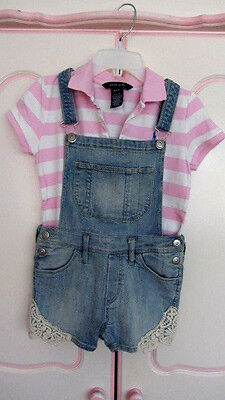 Ralph Lauren Top / H&M Dungarees Age 9-10Years