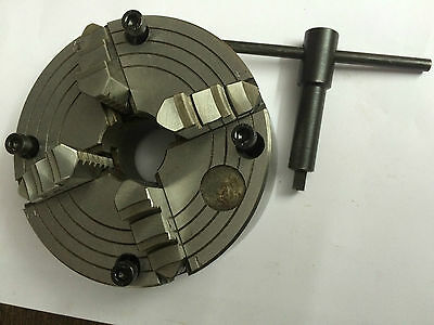 """5"""" Inches(125 mm) 4 Jaw Independent Chuck for Lathe Machine & HV6 Rotary Table"""
