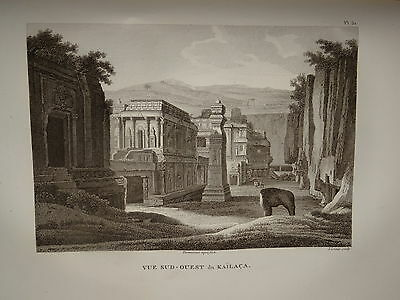 William DANIELL ENGRAVING PALACE KAILACA SIVA INDIA HINDOUSTAN TAMIL NADU 1820
