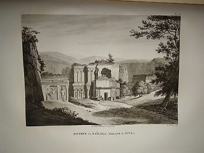 William DANIELL ENGRAVING TEMPLE KAILACA SIVA INDIA HINDOUSTAN TAMIL NADU 1820