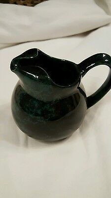 Bennington Potters Individual Ball Creamer Green Agate Pottery