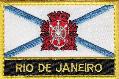 Rio de Janeiro City Brazil Flag Embroidered Patch Badge - Sew or Iron on