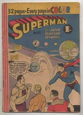 SUPERMAN COMIC  No 115  BY COLOUR COMICS  FINE  CONDITION
